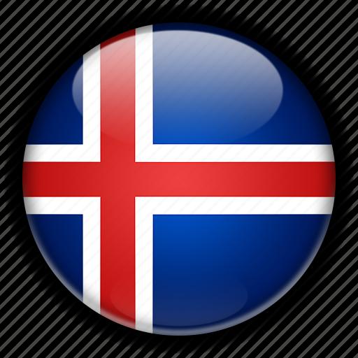 europe, iceland icon