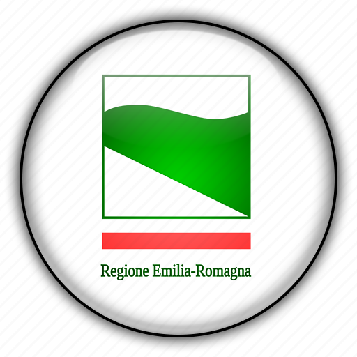 emilia, europe, italy, romagna icon