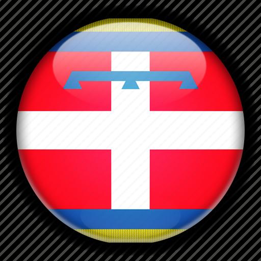 europe, italy, piemonte icon