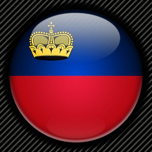 europe, liechtenstein icon