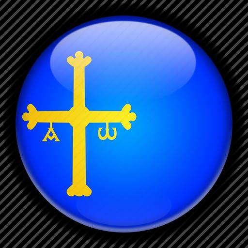 asturias, europe, spain icon