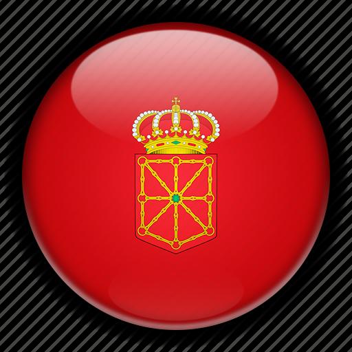 europe, navarra, spain icon