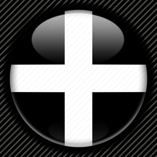 cornwall, england, europe, kingdom, united icon