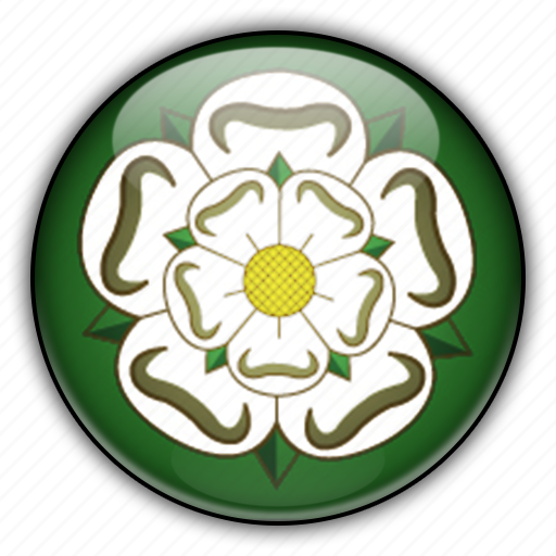 england, europe, kingdom, north, united, yorkshire icon