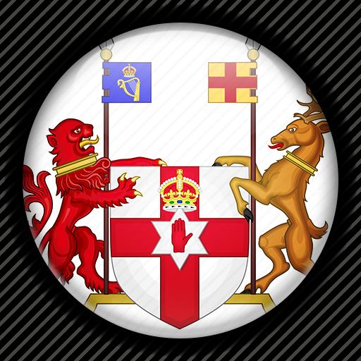 europe, ireland, kingdom, northern, united icon