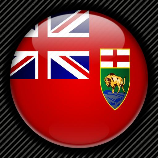 america, canada, manitoba, north icon
