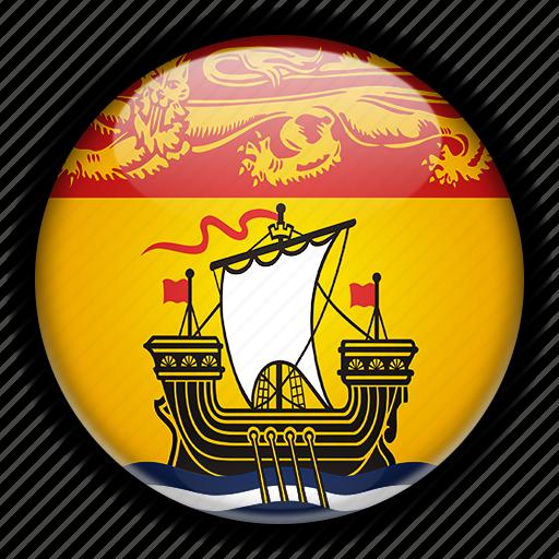 america, brunswick, canada, new, north icon