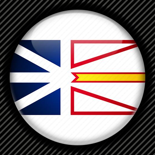 america, and, canada, labrador, newfoundland, north icon