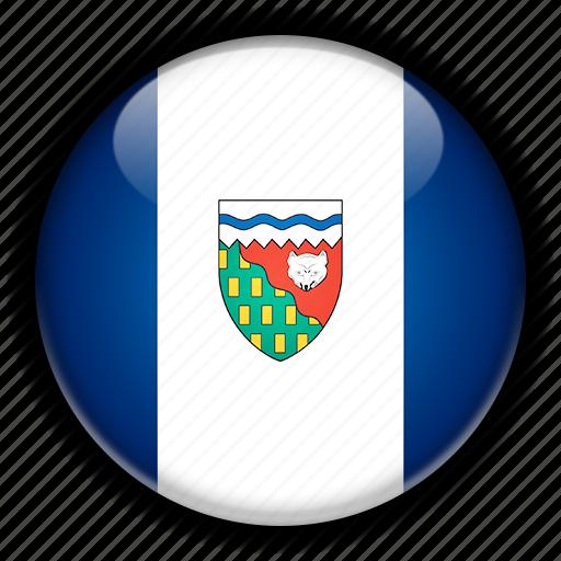 america, canada, north, northwest, territories icon