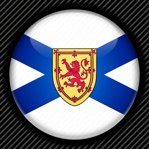 america, canada, north, nova, scotia icon
