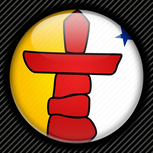america, canada, north, nunavut icon