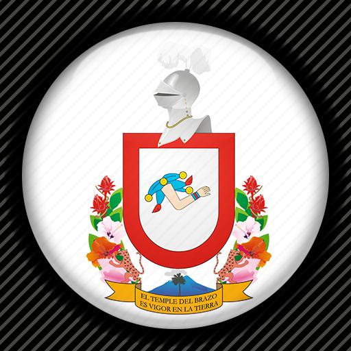 america, colima, mexico, north icon