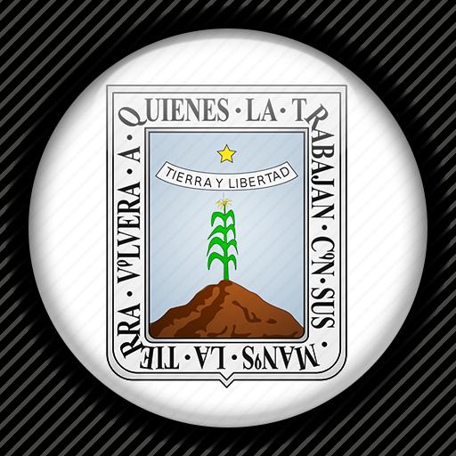 america, mexico, morelos, north icon