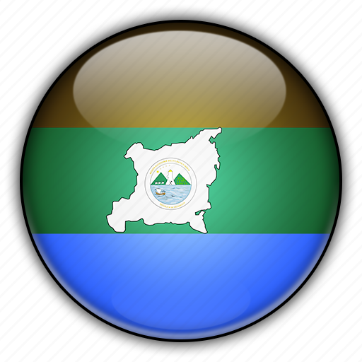 america, atlantico, nicaragua, norte, north icon