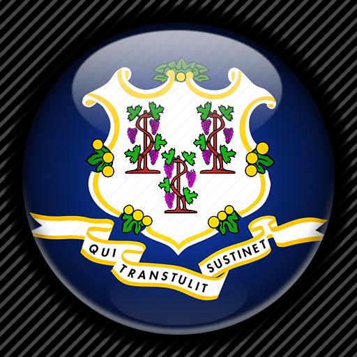 america, connecticut, north, states, united icon
