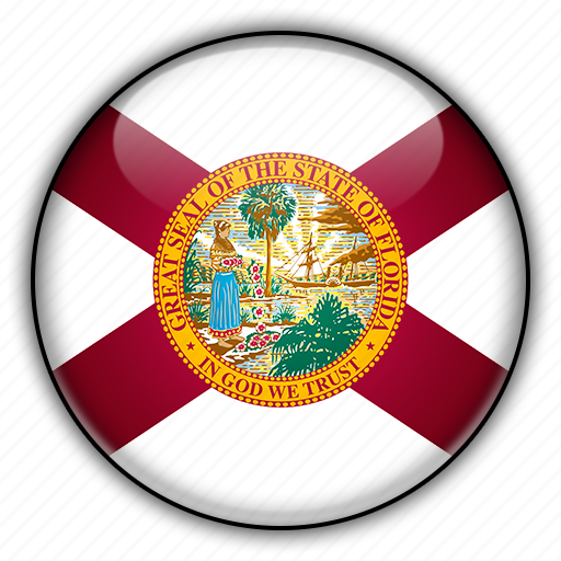 america, florida, north, states, united icon