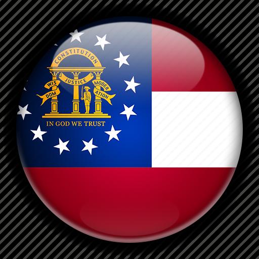 america, georgia, north, states, united, us icon