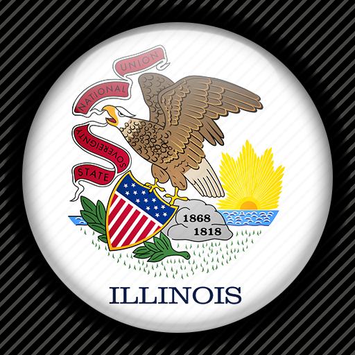 america, illinois, north, states, united icon