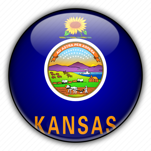 america, kansas, north, states, united icon