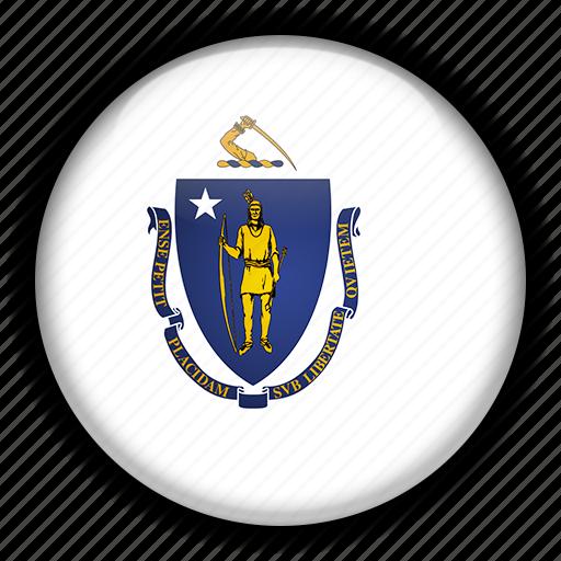 america, massachusetts, north, states, united icon