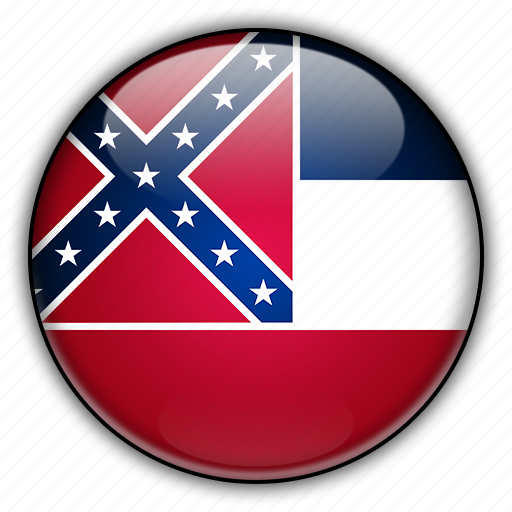 america, mississippi, north, states, united icon