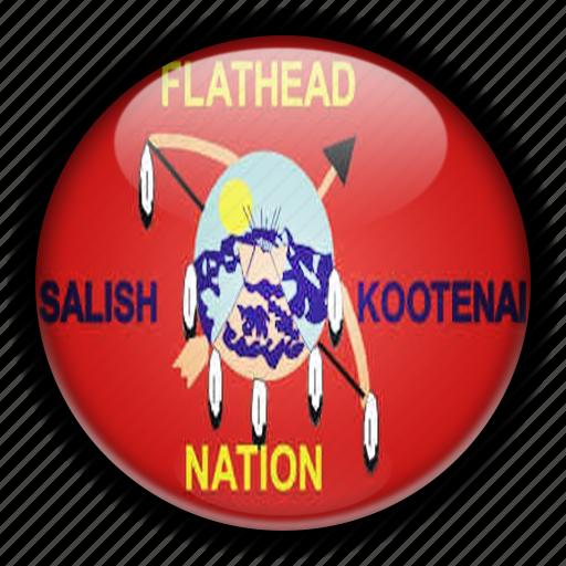 america, flathead, native, north, states, united icon