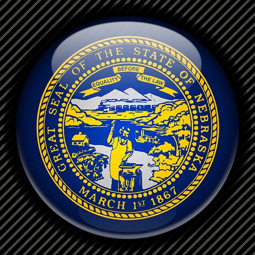 america, nebraska, north, states, united icon