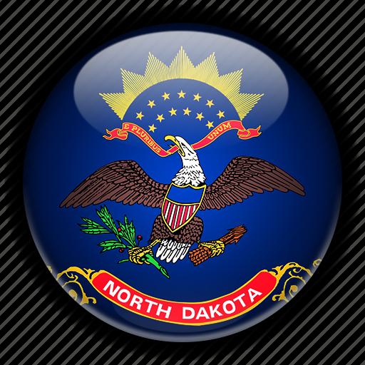 america, dakota, north, states, united icon