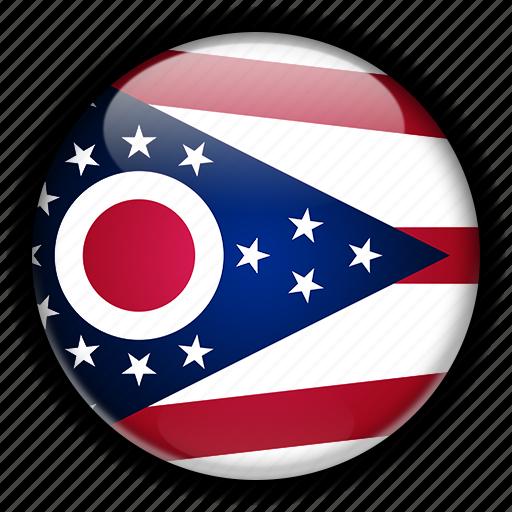 america, north, ohio, states, united icon