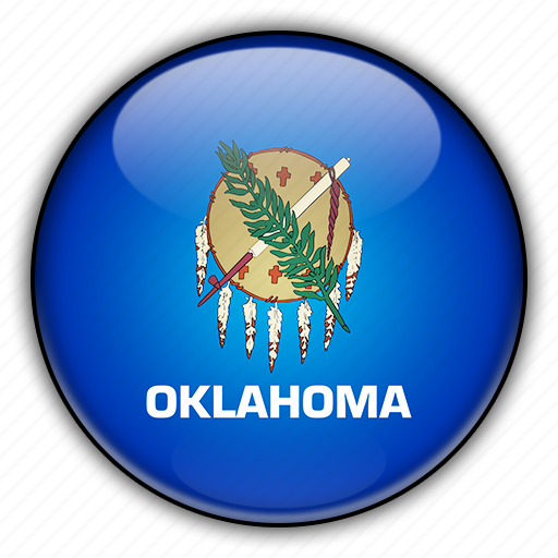 america, north, oklahoma, states, united icon