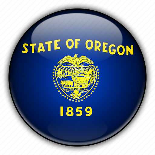 america, north, oregon, states, united icon