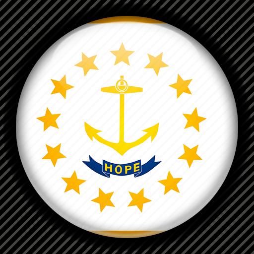 america, island, north, rhode, states, united icon