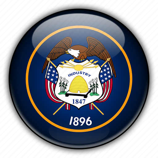 america, north, states, united, utah icon