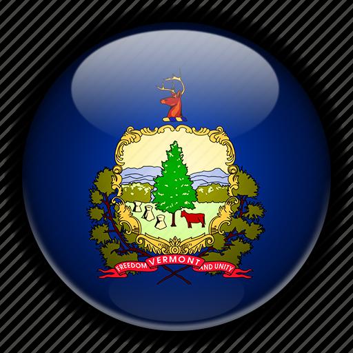 america, north, states, united, vermont icon