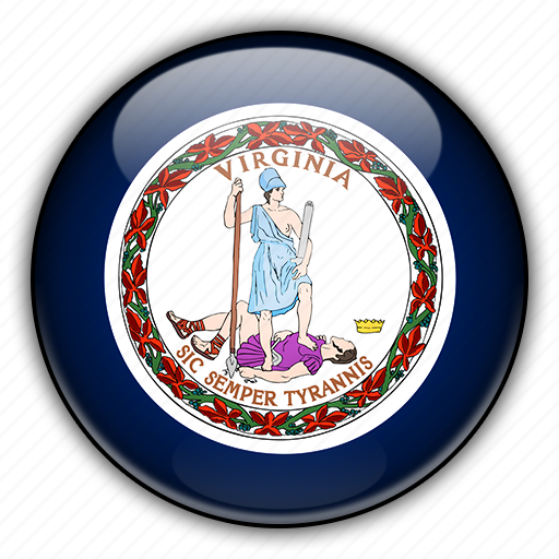 america, north, states, united, virginia icon