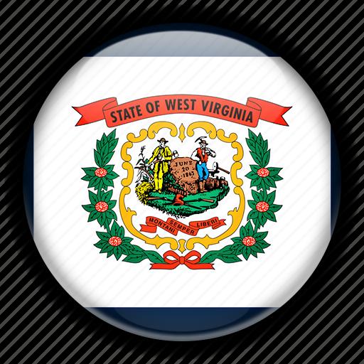 america, north, states, united, virginia, west icon
