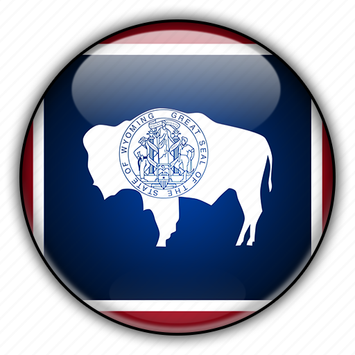 america, north, states, united, wyoming icon