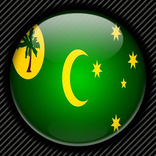 australia, cocos, islands, keeling, oceania icon