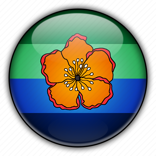angaur, oceania, palau icon