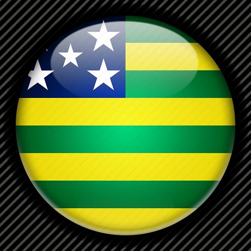 america, brazil, gois, south icon