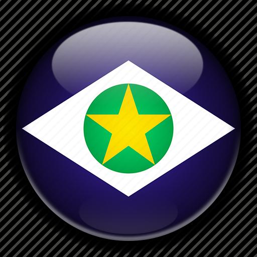 america, brazil, grosso, mato, south icon
