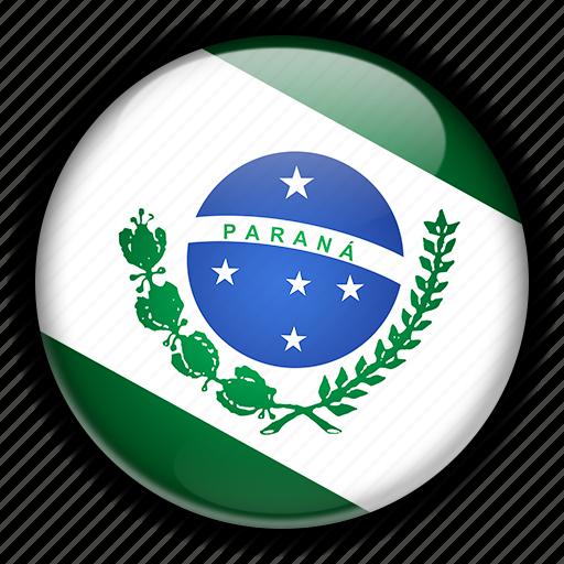 america, brazil, paran, south icon