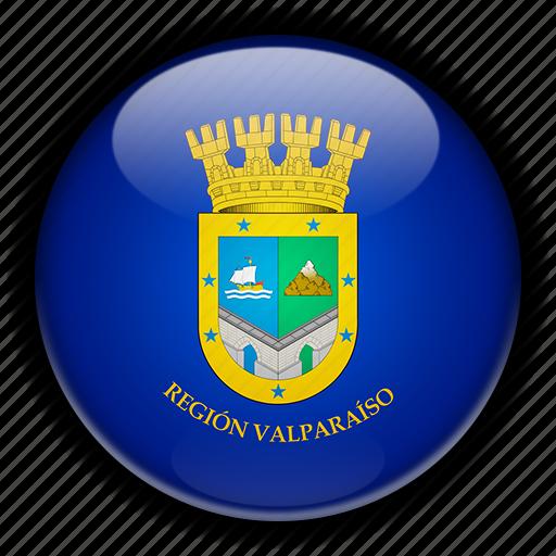 america, chile, south, valparaiso icon