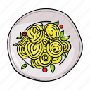 dish, food, pasta, plate icon
