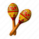 instrument, maracas, mexico, musical, sightseeing, travel icon