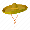 hat, headdress, mexico, sightseeing, sombrero, travel icon