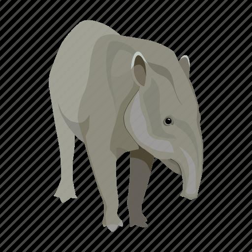 animal, mammal, mexico, sightseeing, tapir, travel icon