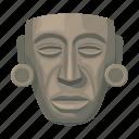ancient, mask, maya, mexico, sightseeing, travel icon