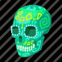 maya, mexico, religion, sightseeing, skull, travel icon