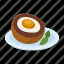 country, food, landmark, national, scotland, scrambled eggs, travel icon